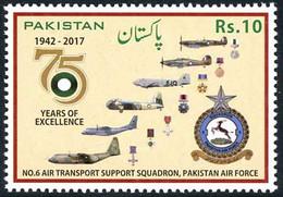 Pakistan 2017 6 Support Squadron Douglas DC-3 Dakota, Lockheed Hercules, Bristol Freighter, Hurricane, Spitfire - Airplanes