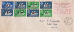 St-Pierre Et Miquelon Pli 1ere Liaison Août 48. FNFL. TB - Covers & Documents