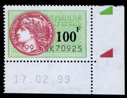 Timbre Fiscal (fiscaux) - Série Fiscale Unifiée (SFU) Neuf N° 508 - Coin Daté Du 17/02/1999 - Fiscale Zegels