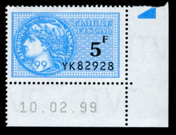 Timbre Fiscal (fiscaux) - Série Fiscale Unifiée (SFU) Neuf N° 503 - Coin Daté Du 10/02/1999 - Fiscale Zegels