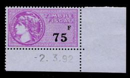 Timbre Fiscal (fiscaux) - Série Fiscale Unifiée (SFU) Neuf N° 475 - Coin Daté Du 02/03/1992 - Fiscale Zegels