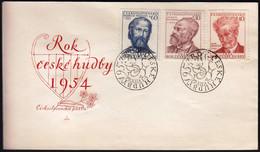 Czechoslovakia Prague 1954 / Czechoslovak Musicians, Dvorak, Janacek, Smetana / FDC - FDC