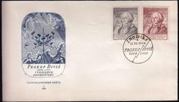 Czechoslovakia Znojmo 1954 / 200th Anniversary Of The Invention Of Lightning Conductor By Procop Divis, Physicist / FDC - FDC