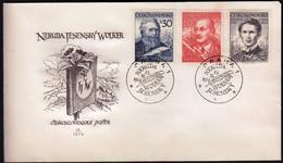 Czechoslovakia 1954 / Czechoslovakian Poets / Neruda, Jesensky, Wolker / FDC - FDC