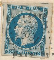 PRESIDENCE N°10 TRES GRANDES MARGES  OBL PC 1096 DIEPPE 1854 SUR LETTRE > AVALLON YONNE - 1852 Luis-Napoléon