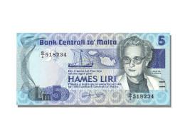 Billet, Malte, 5 Liri, NEUF - Malta