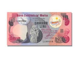 Billet, Malte, 10 Liri, 1967, NEUF - Malta