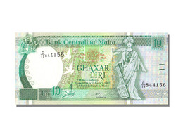 Billet, Malte, 10 Liri, NEUF - Malta