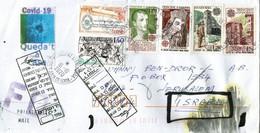 Lettre Andorre Adressée à Jerusalem (Israel) 2020 , Refused,return To Sender, Avec Vignette Prévention Covid-19 - Covers & Documents