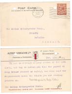JJ79    Great Britain 1933 - Postcard Huddersfield To Germany, N° 141 George V - Briefe U. Dokumente
