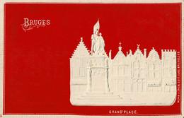 Bruges Grand'Place En Relief Circulée En 1907 - Brugge