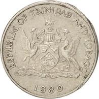 Monnaie, TRINIDAD & TOBAGO, 25 Cents, 1980, TTB, Copper-nickel, KM:32 - Trinidad & Tobago