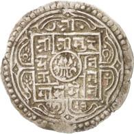 Monnaie, Népal, SHAH DYNASTY, Surendra Vikrama, Mohar, 1869, TTB, Argent - Nepal