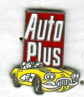 Pin's Voiture Automobile Chevrolet Corvette 1960 Magazine Média Auto Plus (version Non Signée) - Corvette