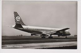 Vintage Rppc KLM K.L.M Royal Dutch Airlines Douglas Dc-8 @ Schiphol Amsterdam Airport - 1919-1938: Between Wars