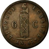 Monnaie, Haïti, 6 Centimes, 1846, TTB+, Cuivre, KM:28 - Haiti