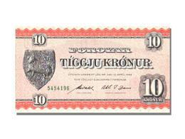 Billet, Faeroe Islands, 10 Kronur, 1949, KM:14d, NEUF - Denmark