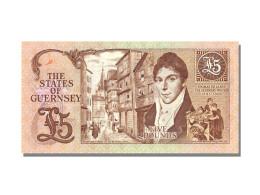 Billet, Guernsey, 5 Pounds, KM:53a, NEUF - Guernsey
