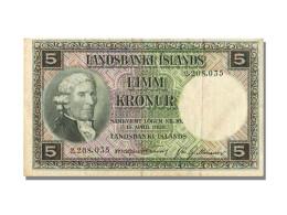 Billet, Iceland, 5 Kronur, 1928, SUP - Iceland