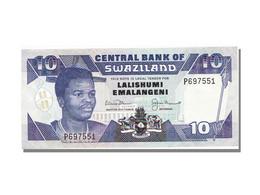 Billet, Swaziland, 10 Emalangeni, 1992, NEUF - Swaziland
