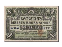 Billet, Latvia, 1 Rublis, 1919, SUP - Latvia