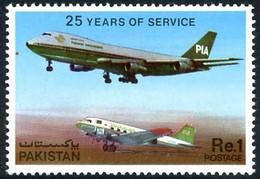 Pakistan 1980 International Airlines PIA Douglas DC-3 (DC 3) Boeing 747 ( YT 501, Mi 511, SG Gibbons 512) - Airplanes