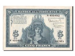 Billet, Nouvelle-Calédonie, 5 Francs, 1944, SUP - Nouméa (New Caledonia 1873-1985)