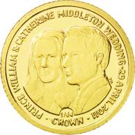 Monnaie, Falkland Islands, 1/64 Crown, 2011, FDC, Or, KM:New - Falkland Islands