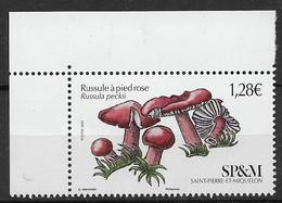 2021 Saint Pierre Et Miquelon  N°  . Nf** MNH . Champignon. Russule à Pied Rose. - Unused Stamps