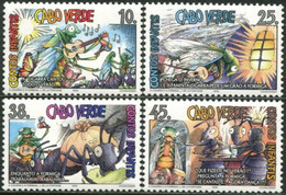 CABO VERDE 1995 Children's Stories Ants Beetles Bugs Butterflies Butterfly Insects Animals Fauna MNH - Mariposas