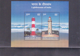INDIA 2012 Lighthouses Of India MS / Block *** - Unused Stamps