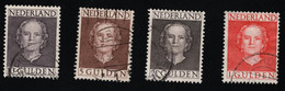 1949 Juliana Mi NL 540 - 543 Sn NL 319 - 322 Yt NL 524 - 527 Sg NL 698 - 701 NVP NL 534 - 537 - Oblitérés