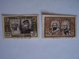 FRANCE ALGERIE FRANCAISE  1950 2 X OBLITERES Monument Abd El Kader Et Cinquantenaire De La Présence Française à In Salah - Used Stamps