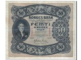 Billet, Norvège, 50 Kroner, 1937, SUP - Norway