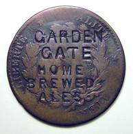 Surfrappe Publicitaire Sur 10c Cérès 1872 - GARDEN GATE HOME BREWED ALES - Noodgeld