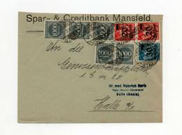 !!! ALLEMAGNE, INFLATION, LETTRE DE MANSFELD POUR HALLE DE 1923 - Covers & Documents