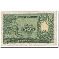Billet, Italie, 50 Lire, 1951, 1951-12-31, KM:91a, TTB - 50 Liras