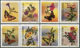 SERBIAN KRAJINA 1994 Flowers Plants Butterflies Butterfly Insects Animals Fauna MNH - Butterflies