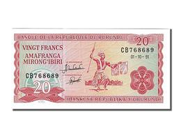 Billet, Burundi, 20 Francs, 1991, 1991-10-01, KM:27c, NEUF - Burundi