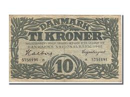Billet, Danemark, 10 Kroner, 1948, TTB - Denmark
