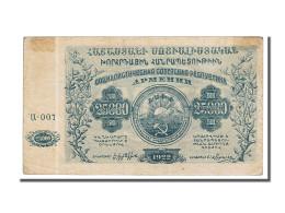 Billet, Russie, 25,000 Rubles, 1922, TTB - Armenia