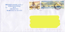 France 2011, Traditional Guitar / Guitare Traditionnelle / Gaboussi / Mayotte On A Circulated Cover. - Covers & Documents