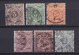 Wuerttemberg - 1890/94 - Michel Nr. 55/57 + 59/60 - Gestempelt - Wuerttemberg