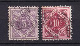 Wuerttemberg - Dienstmarken - 1875 - Michel Nr. 101/102 - Gestempelt - Wurttemberg