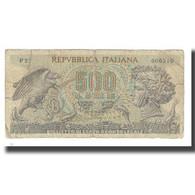 Billet, Italie, 500 Lire, 1967, 1967-10-20, KM:93a, B+ - 500 Lire