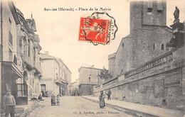 SERVIAN - Place De La Mairie - Très Bon état - Other Municipalities