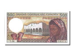 Billet, Comoros, 500 Francs, 1975, NEUF - Comoros