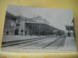 21 6989 CPA 1904 - 21 IS SUR TILLE. INTERIEUR DE LA GARE - ANIMATION. TRAIN EN GARE - Stations With Trains