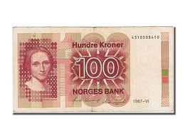 Billet, Norvège, 100 Kroner, 1987, TTB+ - Norway