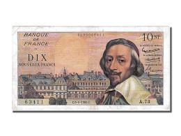 Billet, France, 10 Nouveaux Francs, 10 NF 1959-1963 ''Richelieu'', 1960 - 10 NF 1959-1963 ''Richelieu''